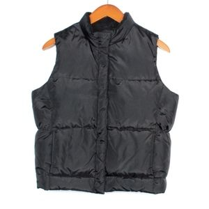 GAP Size X-Small Black Down Puffer Vest Outerwear